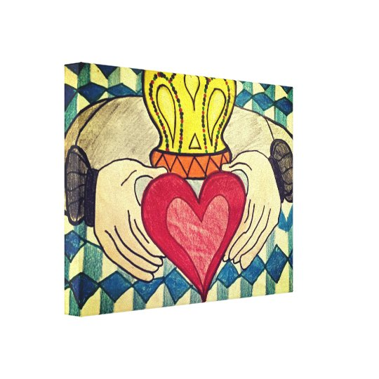 King Heart Canvas Print
