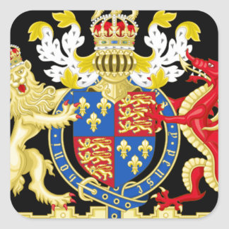 KING HENRY THE EIGHTH COAT OF ARMS SQUARE STICKER