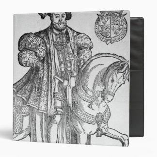 King Henry VIII on horseback 3 Ring Binders