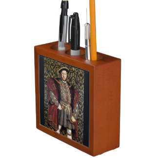 King Henry VIII Portrait Desk Organizer