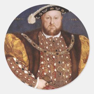 King Henry VIII Round Sticker