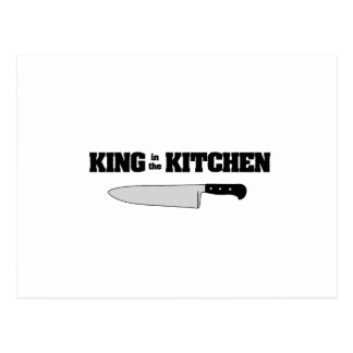 King in the Kitchen Horizontal Chef's Knife Postcard