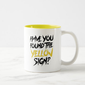 King in Yellow Have You Found the Yellow Sign Two-Tone Coffee Mug