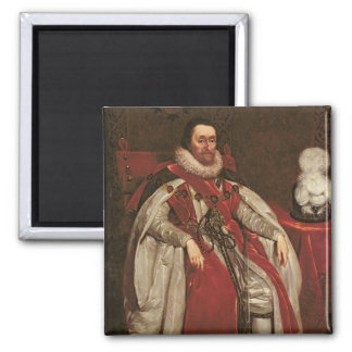 King James I of England and VI of Scotland, 1621 Magnet