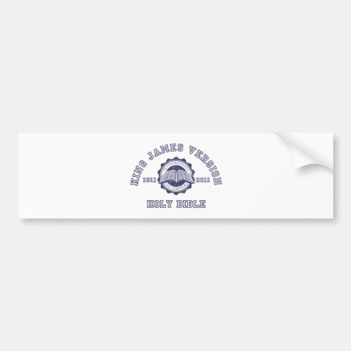 King James Version College Style in blue distress Bumper Sticker