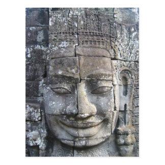 King Jayavarman VII from Bayon Temple Postcard