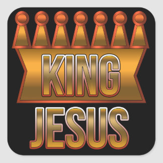 King Jesus Gold Crown Christian Stickers
