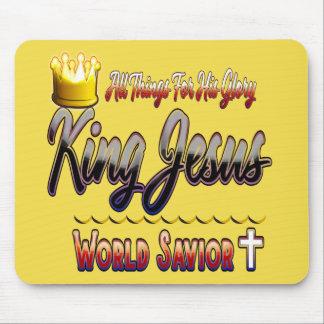 King Jesus World Savior Christian Mouse Pad