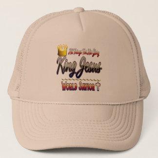 King Jesus World Savior Trucker Hat
