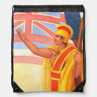 King Kamehameha the Great Drawstring Bag