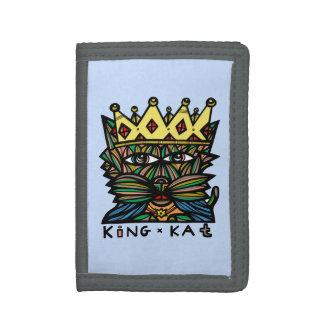 """King Kat"" TriFold Nylon Wallet"