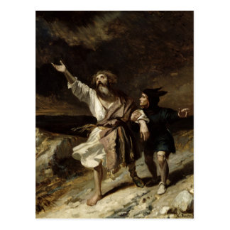 King Lear and the Fool in the Storm Postcard