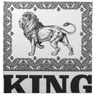 king lion box napkin