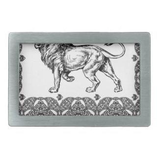 king lion box rectangular belt buckles