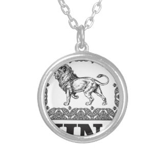 king lion box silver plated necklace