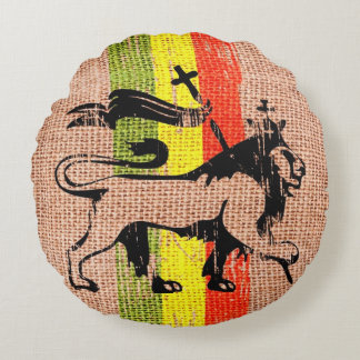 King lion round pillow