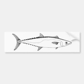 King Mackerel Line Art Bumper Sticker