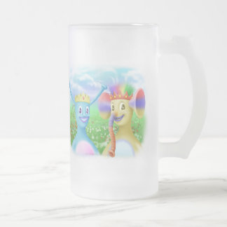 King Monty and Prince Marvin 16 Oz Frosted Glass Beer Mug