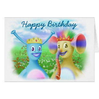 King Monty and Prince Marvin Greeting Card