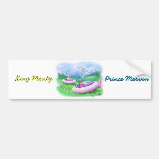 King Monty and Prince Marvin on their Hoversleds Bumper Sticker