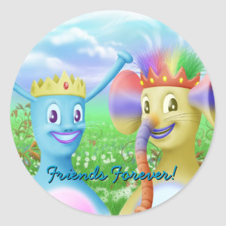 King Monty and Prince Marvin Round Sticker