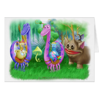 King Monty and the gang in Brimlest Forest Greeting Card