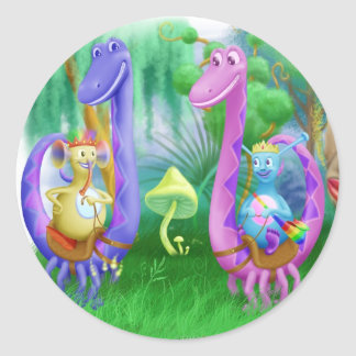 King Monty and the gang in Brimlest Forest Round Sticker