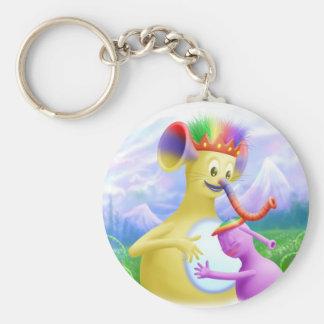 King Monty Getting A Hug Basic Round Button Keychain