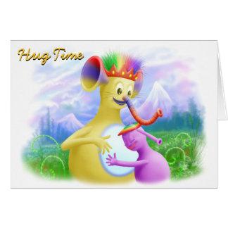 King Monty Getting A Hug Greeting Card