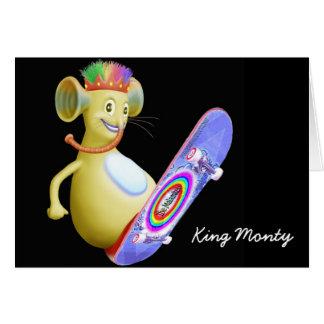 King Monty on Skate Board Greeting Card