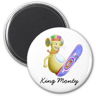 King Monty on Skate Board Magnet