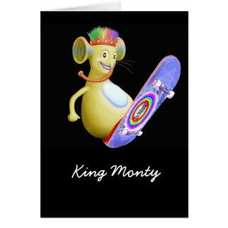 King Monty on Skateboard Greeting Card