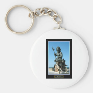 King Neptune Basic Round Button Keychain