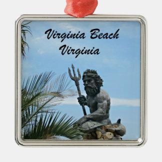 King Neptune Park, Virginia Beach, VA Metal Ornament