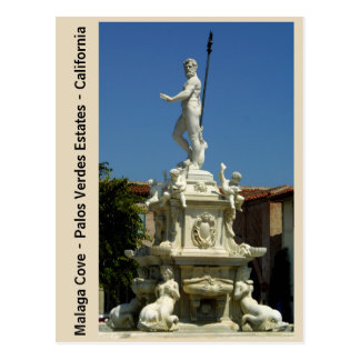King Neptune postcard Malaga Cove Plaza