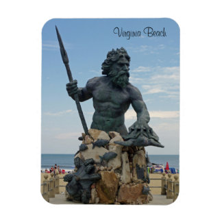 King Neptune Rectangular Photo Magnet
