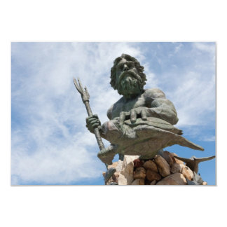 King Neptune Virginia Beach Statue Card