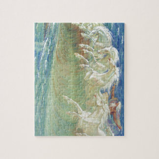 King Neptune's Horses on the Beach Jigsaw Puzzle