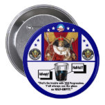 King Obama & the half-full glass 3 Inch Round Button