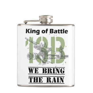King of Battle - 13B We Bring the Rain Hip Flask
