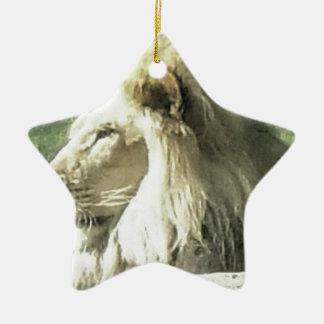 King of Beasts Ceramic Ornament