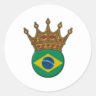 King Of Brazil Classic Round Sticker