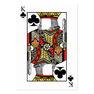 King of Clubs - Add Your Image Large Business Card