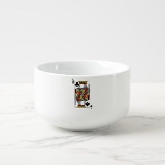 King of Clubs - Add Your Image Soup Bowl With Handle