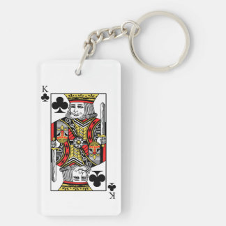 King of Clubs Keychain