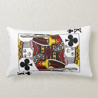 King of Clubs Playing Card Lumbar Pillow