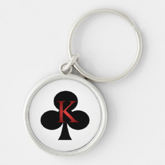 King of Clubs Playing Cards Keychain