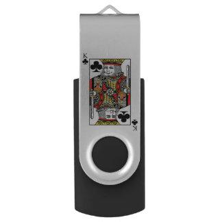 King of Clubs Swivel USB 2.0 Flash Drive