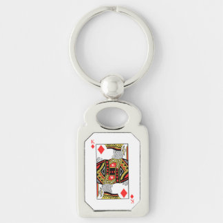 King of Diamonds - Add Your Image Keychain