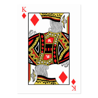 King of Diamonds - Add Your Image Large Business Card